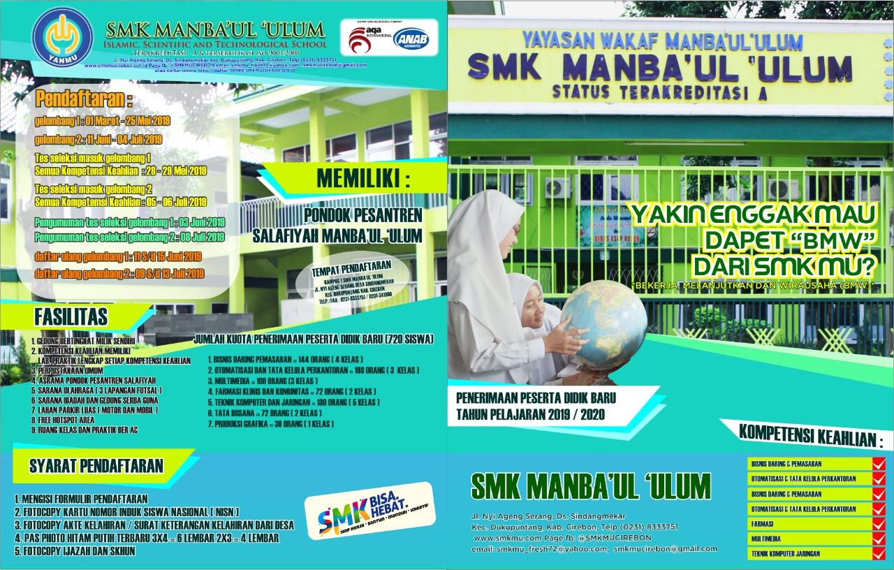 Daftar Calon Peserta Didik  SMk Manbaul Ulum TP-2019-2020
