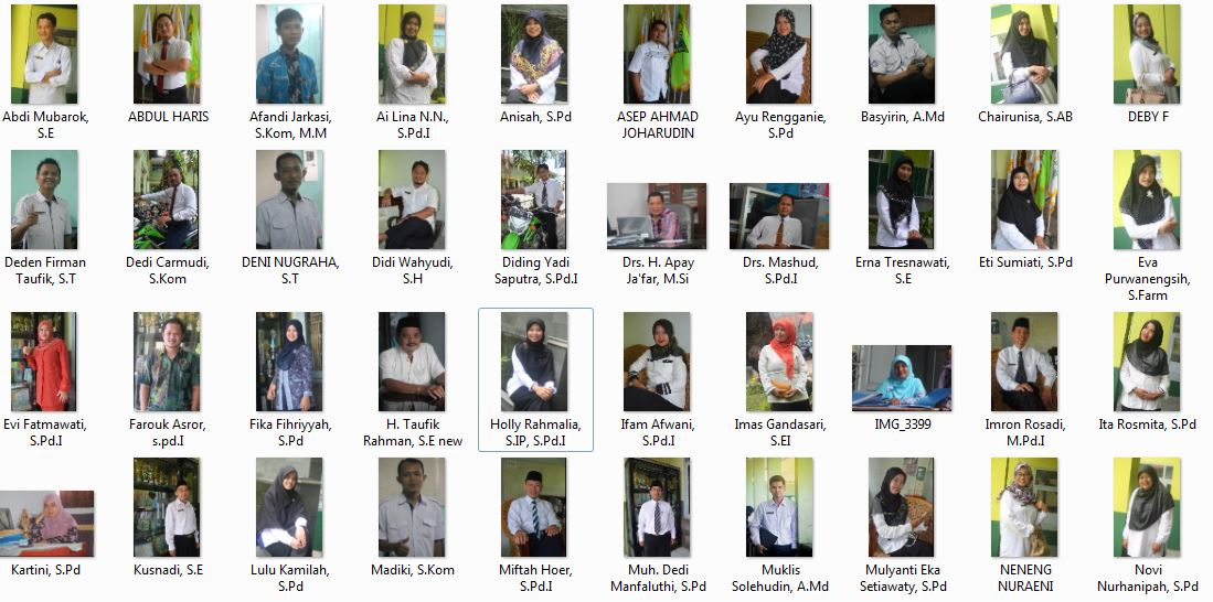 Direktori Guru-Guru SMK Manbaul Ulum 2018-2019